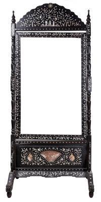 Marco de pie para espejo china siglo xix madera de for Marcos para espejos de pie