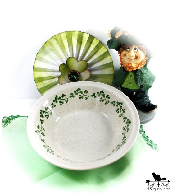 Wild Shamrock Bowl by Arklow Pottery by northandsouthshabby