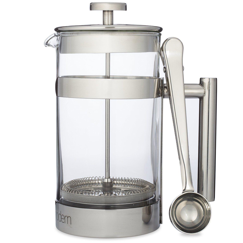 simple modern french press coffee tea maker   liter  double  - simple modern french press coffee tea maker   liter  double filter plus coffee