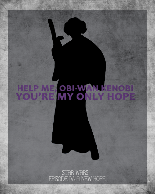Leia character poster from A New Hope
