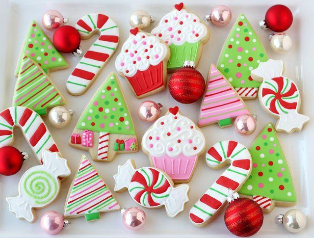 Alberelli, cupcakes e bastoncini di zucchero