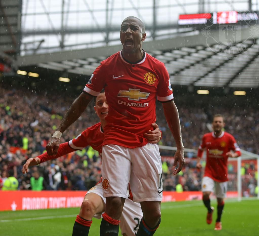 Manchester United On Ashley Young Manchester United Manchester United Football