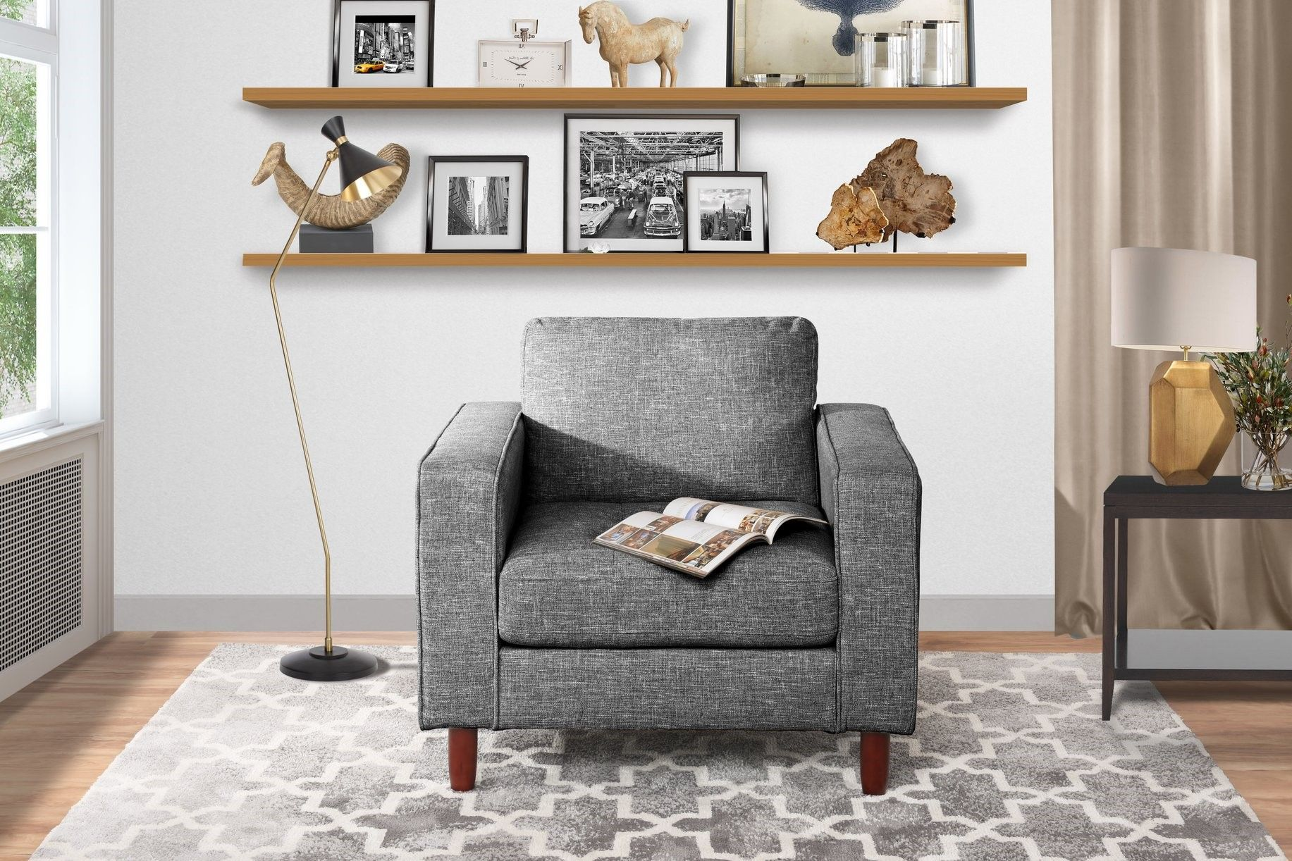 12 Accent Chairs Under 150 That Ll Inspire You To Go Bold Hunker Arm Chairs Living Room Linen Accent Chairs Living Room Chairs