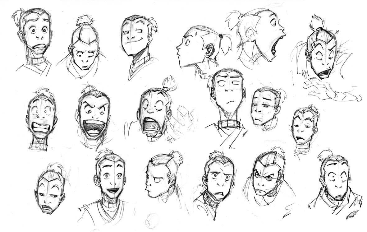 Sokka Face Avatar The Last Airbender Photo 25624867 Fanpop Drawing Expressions Sketches Character Design