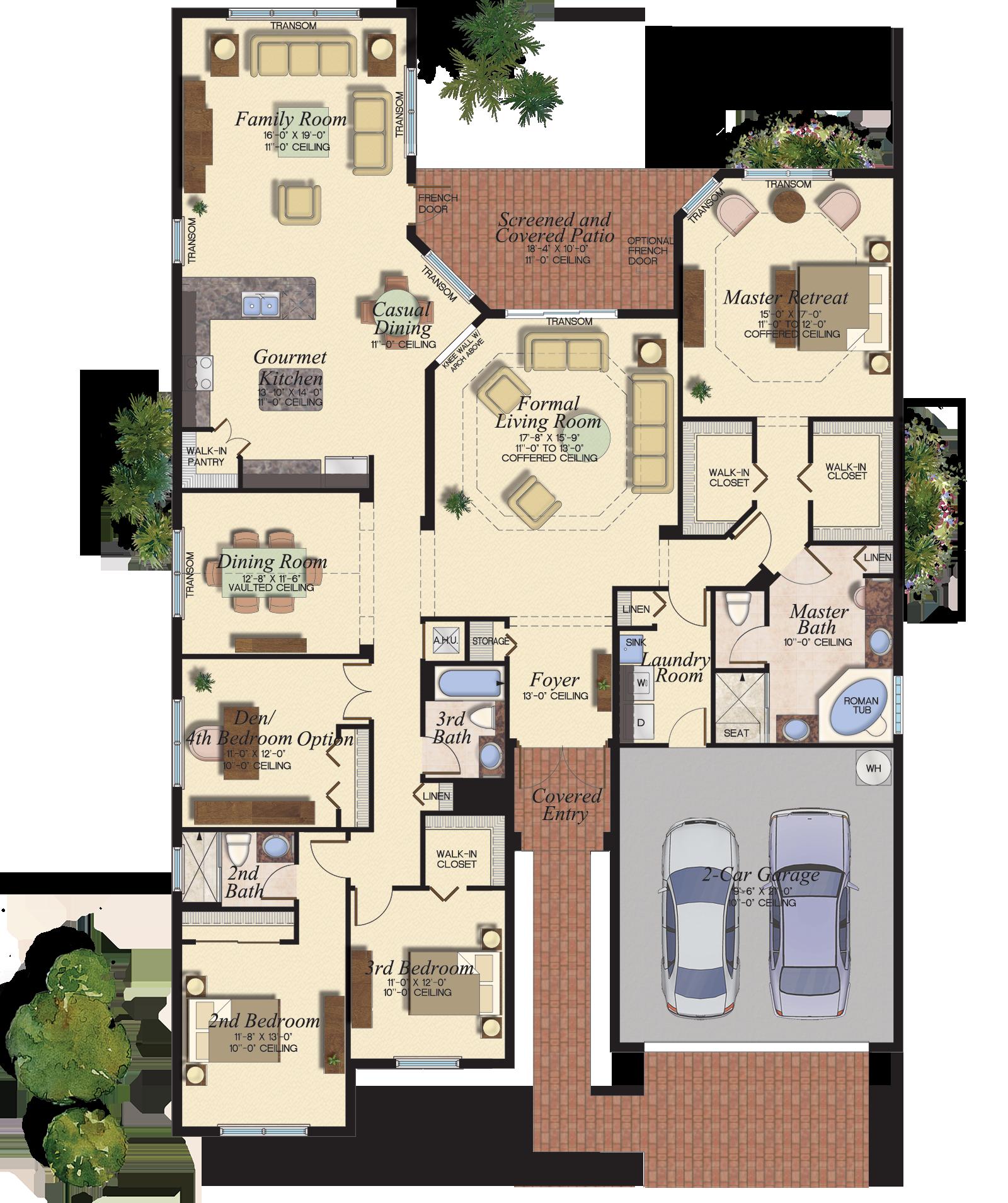 Gl Homes House Blueprints Modern House Plans Dream House Plans