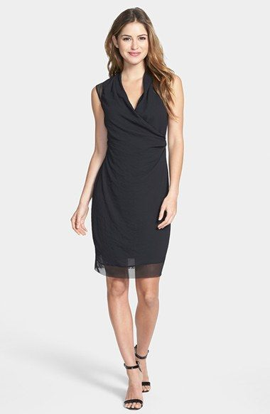 5b61ed169471 T Tahari Tahari 'Chandra' Sleeveless Surplice Dress available at #Nordstrom
