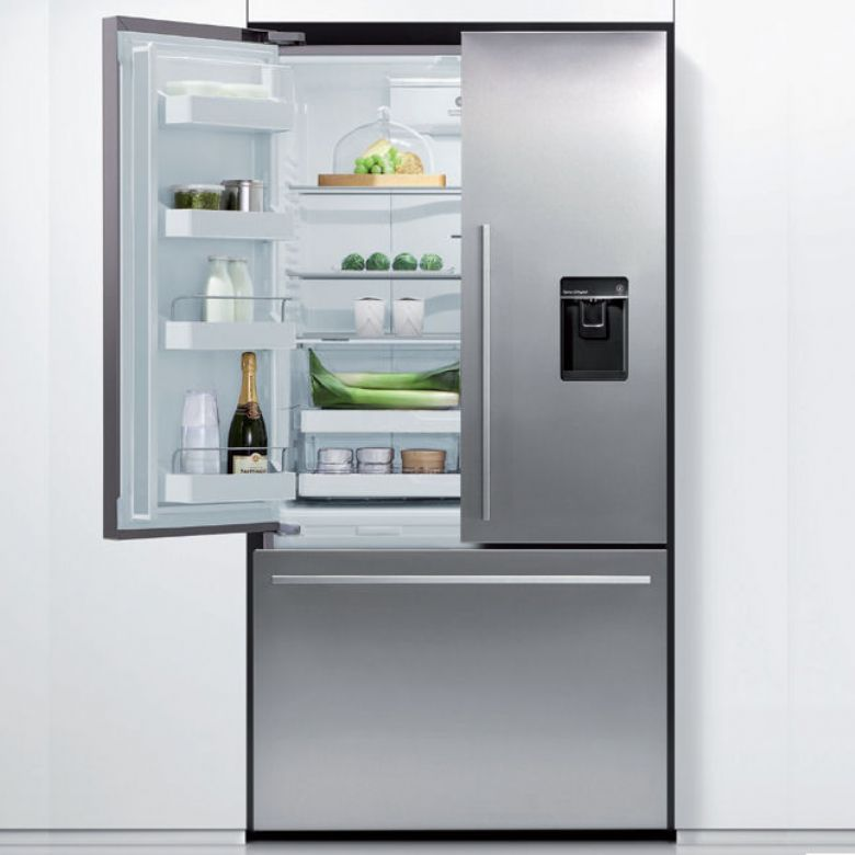 The New Rf540adusx4 Stainless Steel French Style Fridge