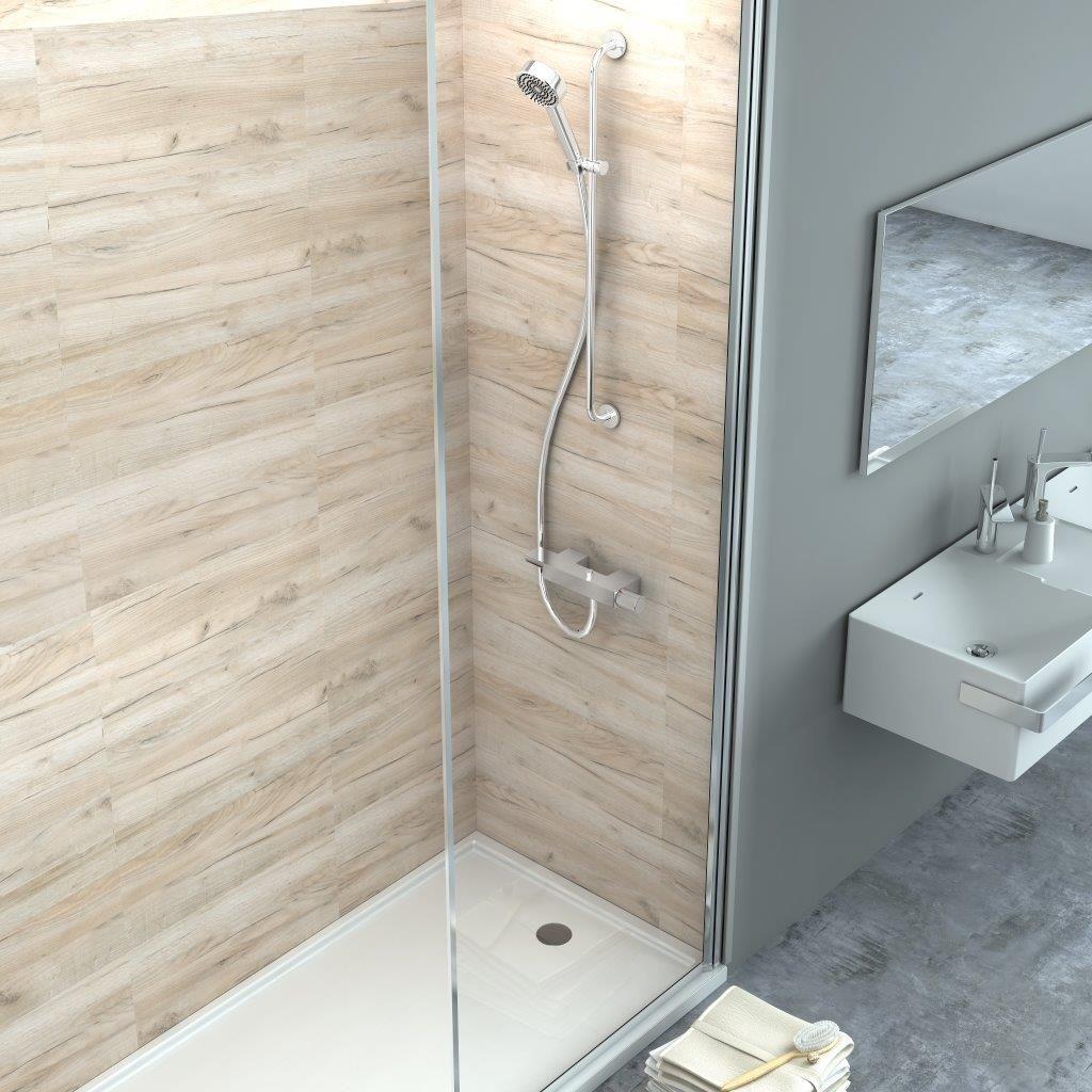 Wasserfeste Wandverkleidung Bad Teak Holz Mit Gummifuge Badezimmer Bs Holzdesign