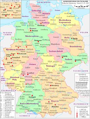 Deutschland karte Region Bild