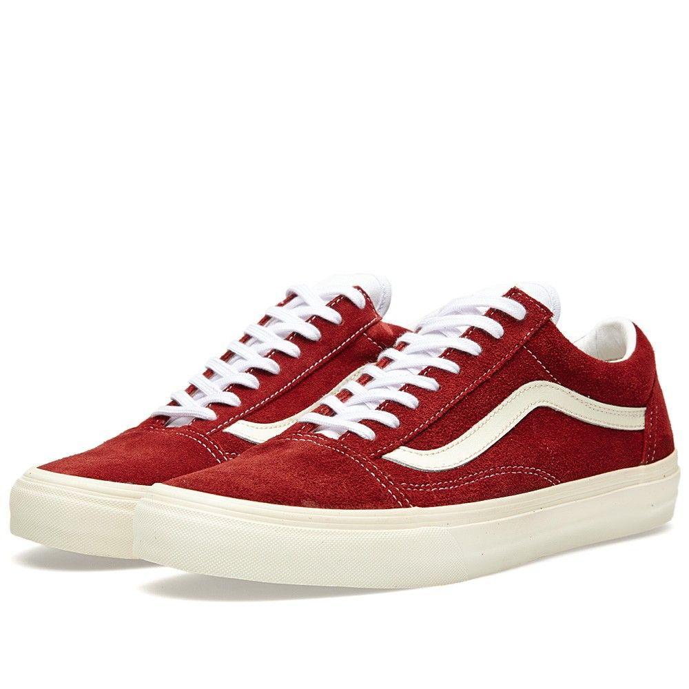 0413134776 Vans Model - Old Skool Vintage (Rio Red) In Burgundy   Maroon non-suede  also nice. Size 6 UK