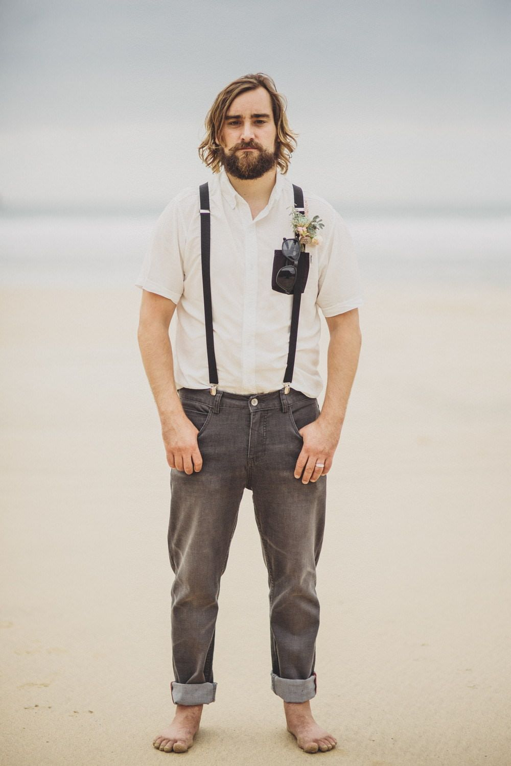 Bohemian wedding dress from grace loves lace at a laid back coastal