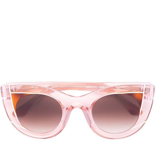 680aa9d3e2d8 Thierry Lasry Peach Pink Wavvvy 1654 Sunglasses ( 580) ❤ liked on Polyvore  featuring accessories