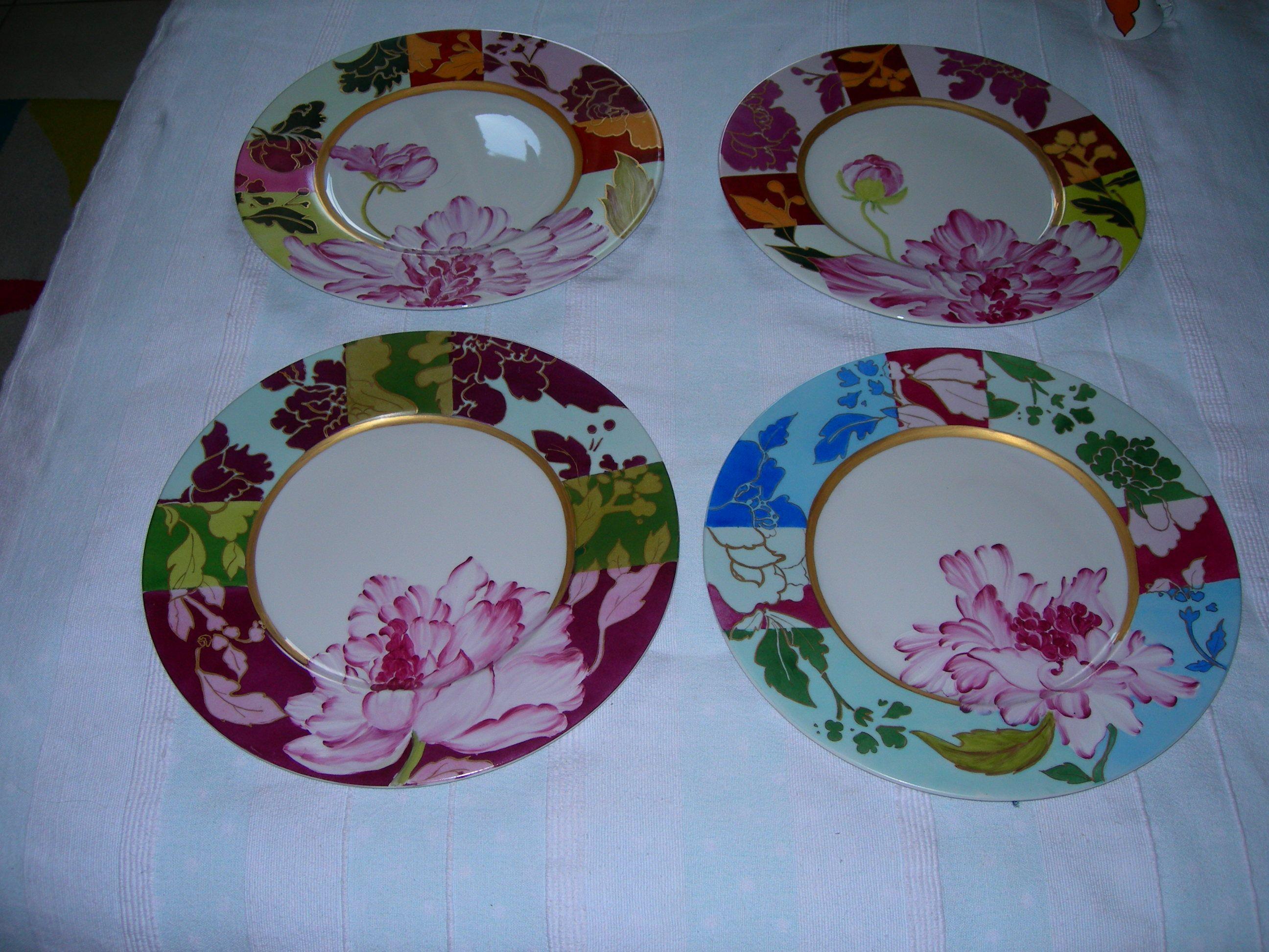 Peinture Sur Porcelaine Assiette service peint main | porcelaine peinte, peinture sur