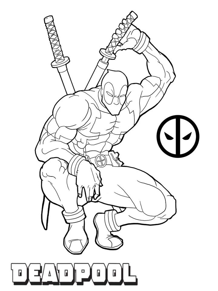 Deadpool Coloring Pages In 2020 Avengers Coloring Pages Superhero Coloring Pages Deadpool Drawing