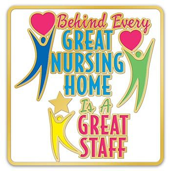 Nursing Home Lapel Pin With Presentation Card Item