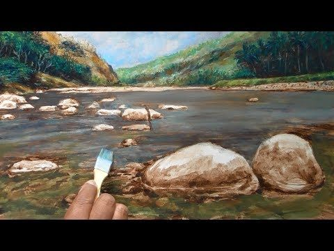 RIVER OIL PAINTING, Underpainting & Glazing/Overpainting Technique, Tutorial Explanation - YouTube