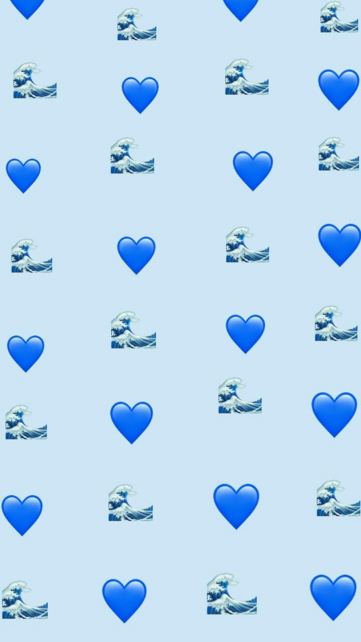 Blue Wallpaper Wallpaper Emoji Emoji Wallpaper Great Wave Blue Heart Aesthetic Snapchat Ig Emoji Wallpaper Iphone Emoji Wallpaper Cute Emoji Wallpaper Aesthetic wallpaper blue heart