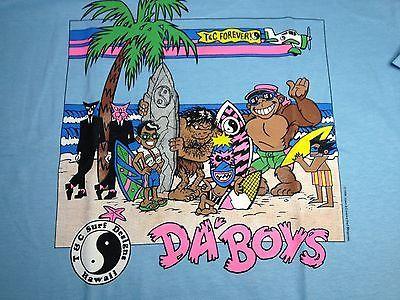 80's T&C Surf Designs T-shirt Men's Large Sky blue   Da'boys