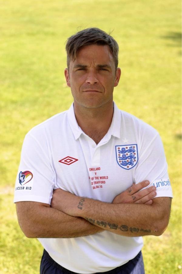 england captain soccer aid robbie williams robbie williams world