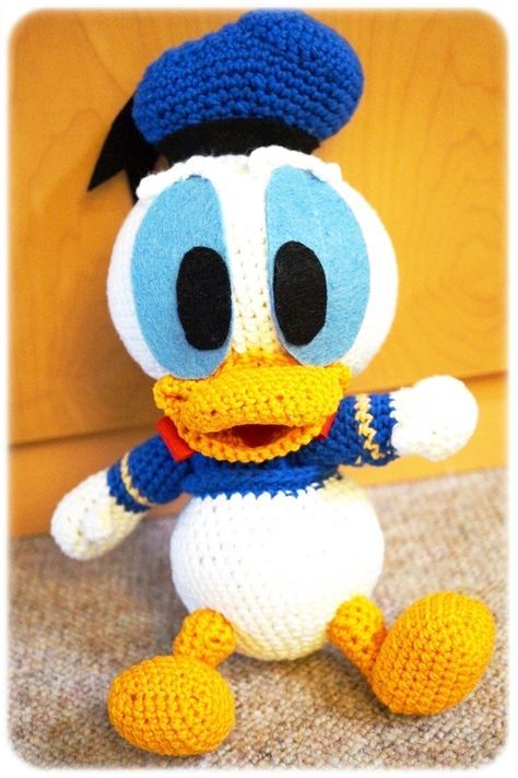 Amigurumi Finger Puppets Free Pattern : Baby Donald Duck - Free Pattern Hase hakeln Pinterest ...
