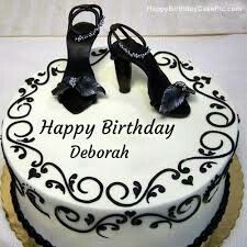 Happy Birthday Deborah Parties Elegant Cakes Cool
