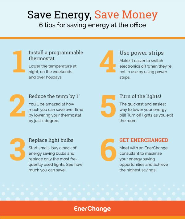 Saving energy at the office an infographic tips energy for Facts about energy conservation