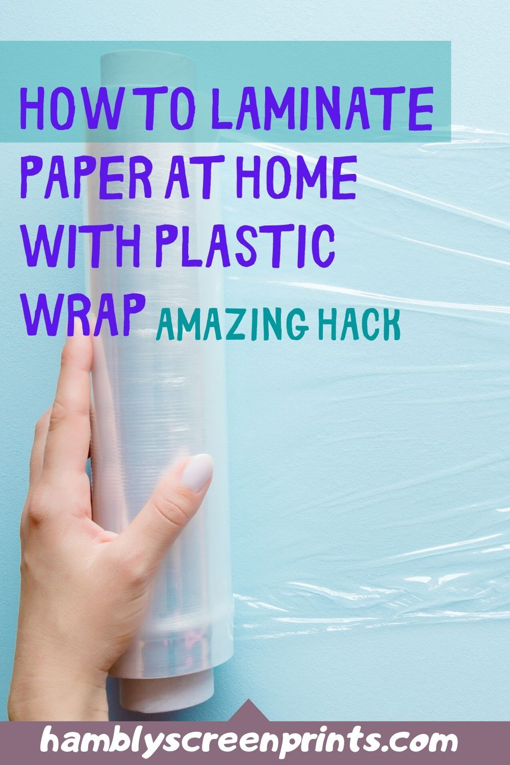 How To Laminate Paper At Home With Plastic Wrap Diy Without Machine In 2020 Laminating Paper Personalized T Shirts Clear Packing Tape