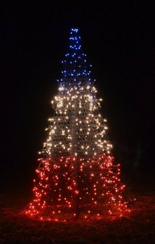 4 Patriotic Red White Blue Crab Pot Christmas Tree Prelit Nc Coast Seas Ebay