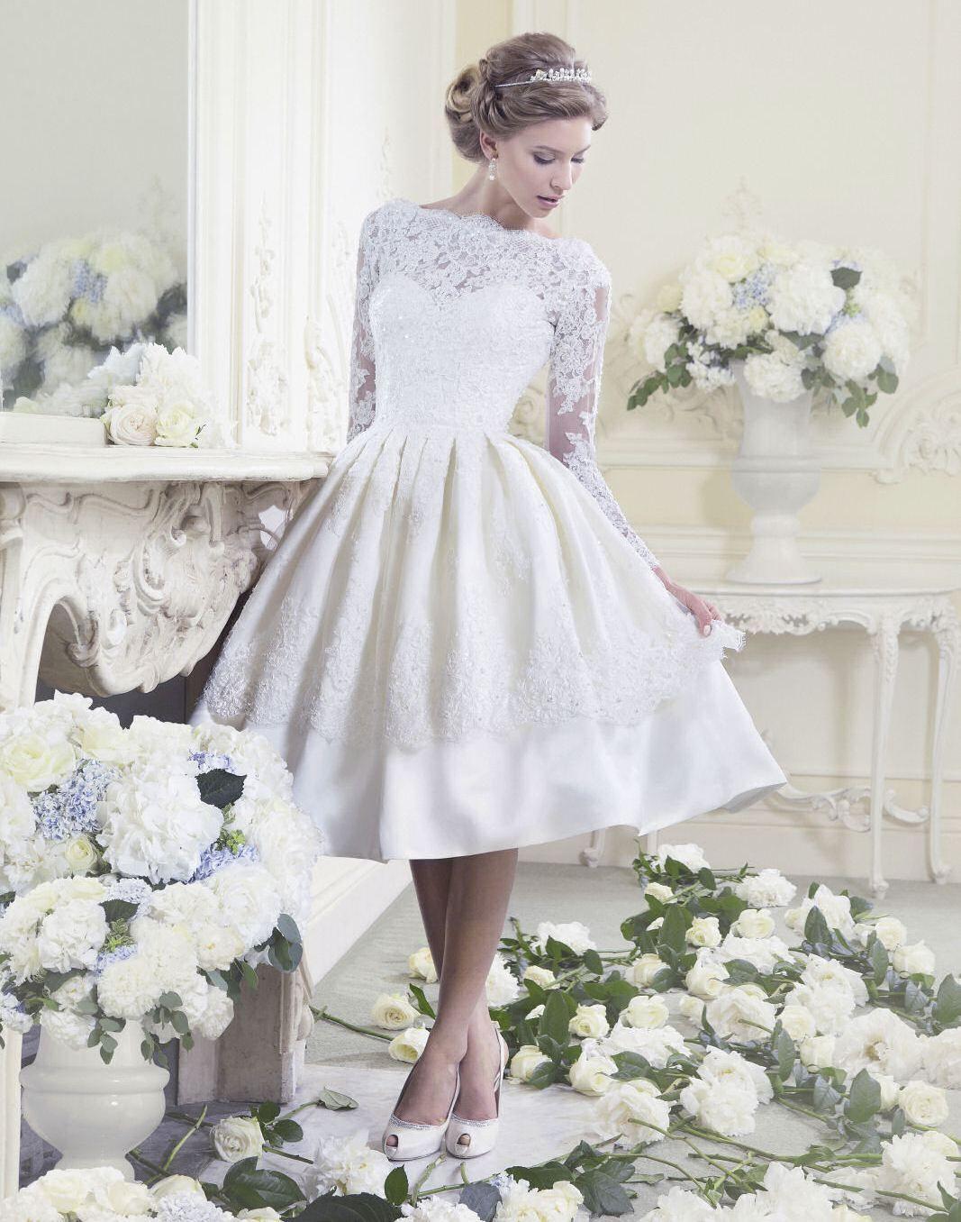 Свадебное платье миди: средняя длина до и ниже колена