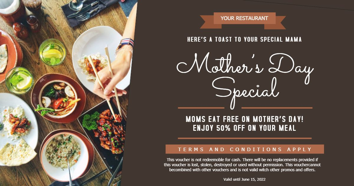 Mother S Day Brunch Lunch Restaurant Deal Advert Online