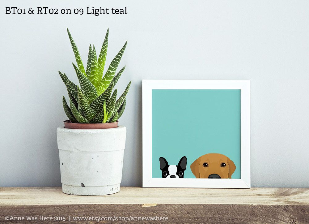 Custom Combo Peeking Pet Art Print - Choose Any Two Existing Designs!, Golden Retriever Art, Lab Art, Labrador Retriever Art, Dog Art, Pet by AnneWasHere on Etsy https://www.etsy.com/listing/245819827/custom-combo-peeking-pet-art-print