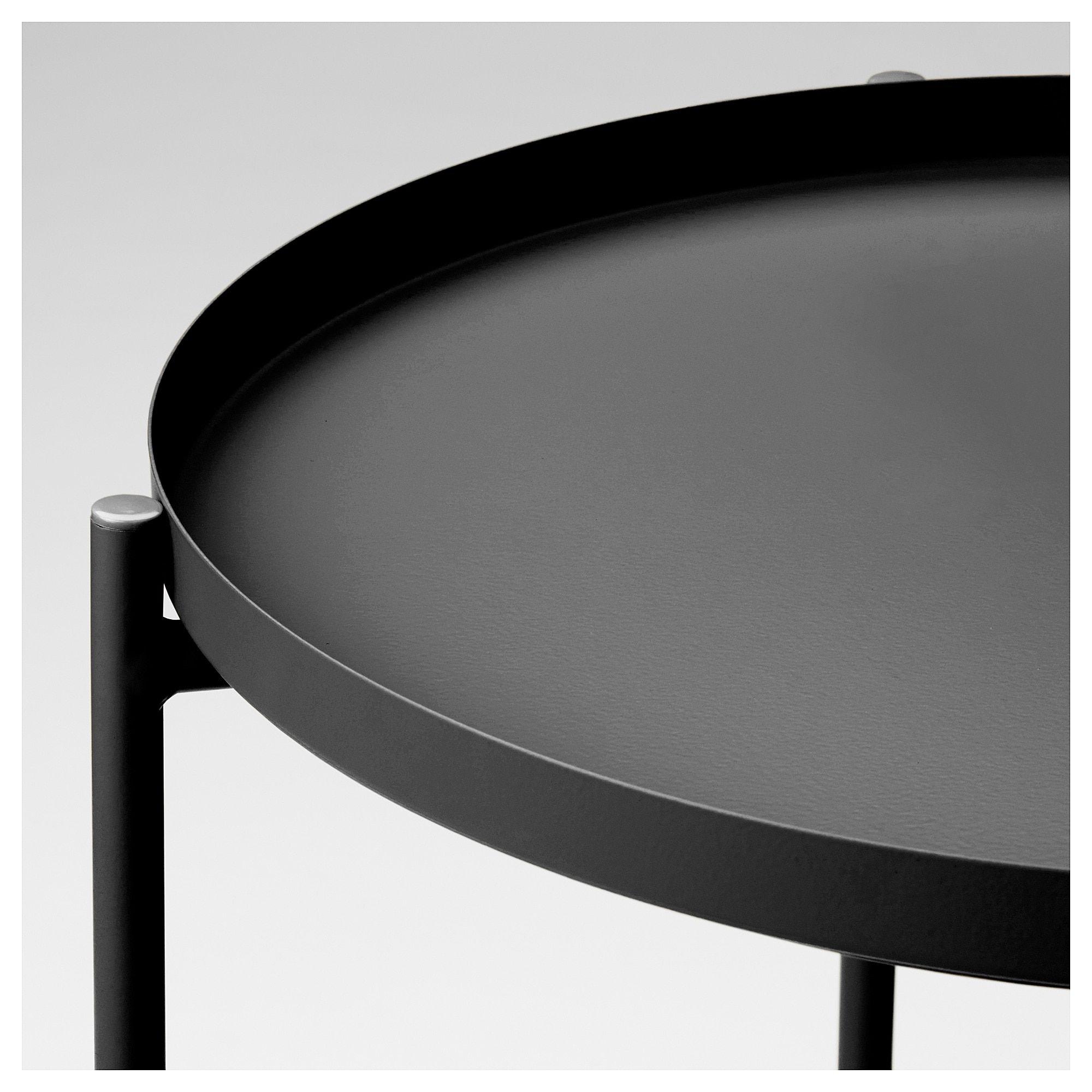 Ikea Gladom Tray Table In 2020 Round Black Coffee Table Ikea