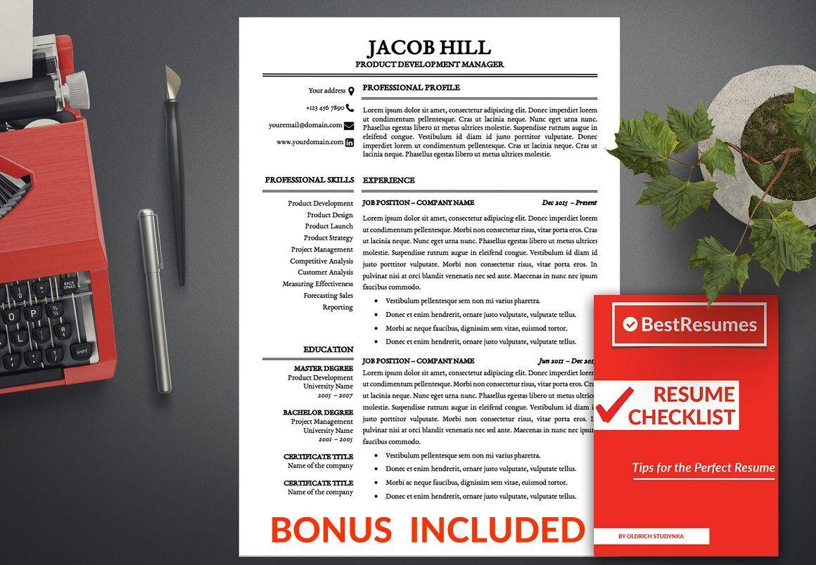 Resume Template Modern Word Resumes Resume template
