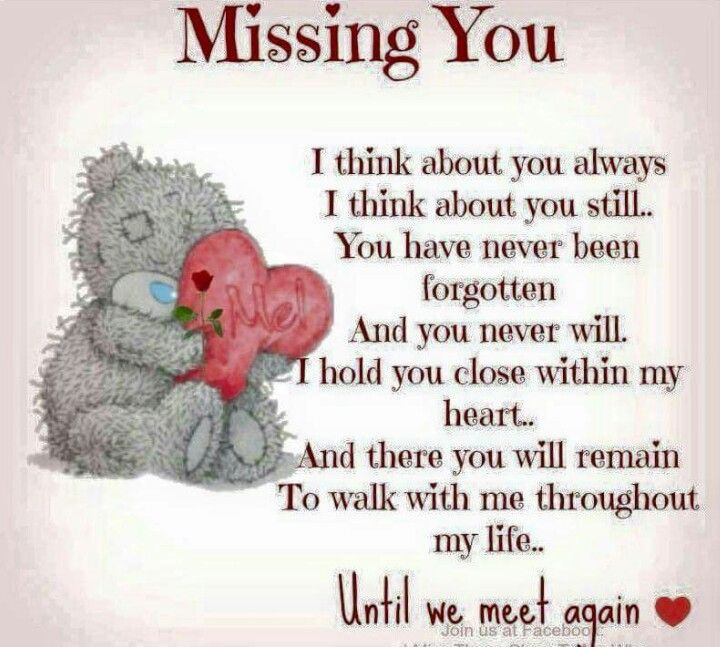 Missing You Dad Miss You Mom Bear Quote Miss You Mum