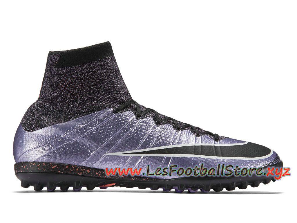 Nike MercurialX Proximo TF Chaussure de football pour gazon synthétique  pour Homme 718775_580 Violet Noir-