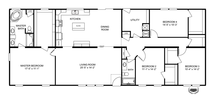 Clayton homes home floor plan manufactured homes - Clayton homes terminator 4 bedroom ...