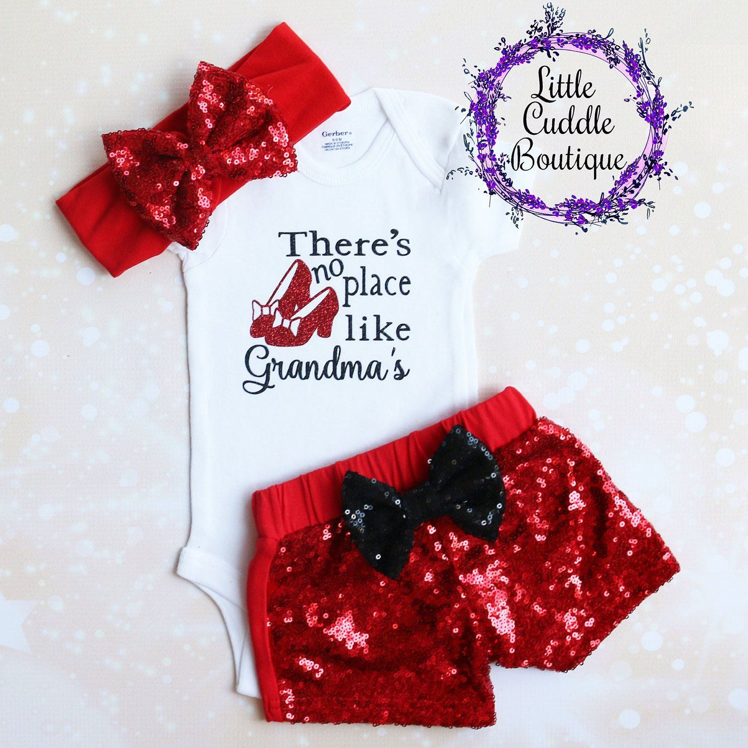 Baby Gift From Grandma Details about  /There/'s No Place Like Grandma/'s Baby Outfit Grandma