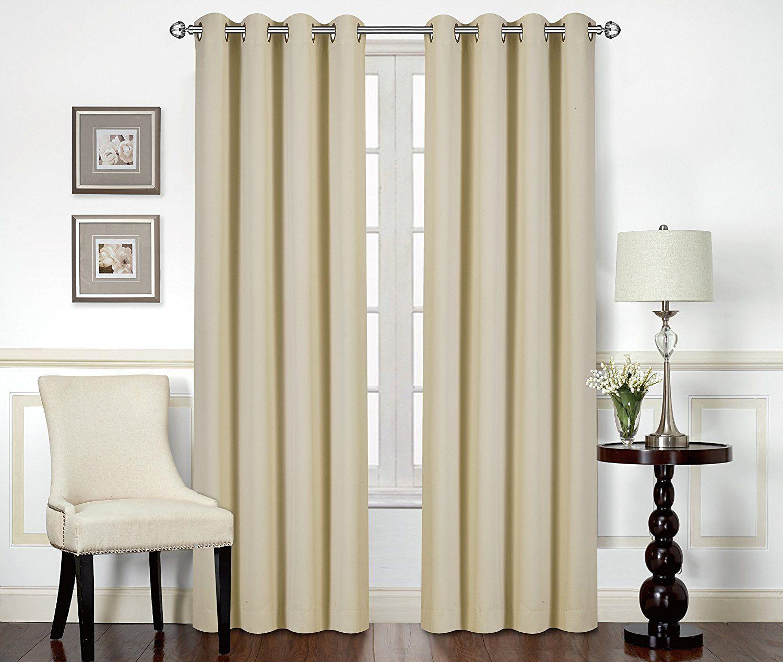 Amazon blackout room darkening curtains window panel drapes