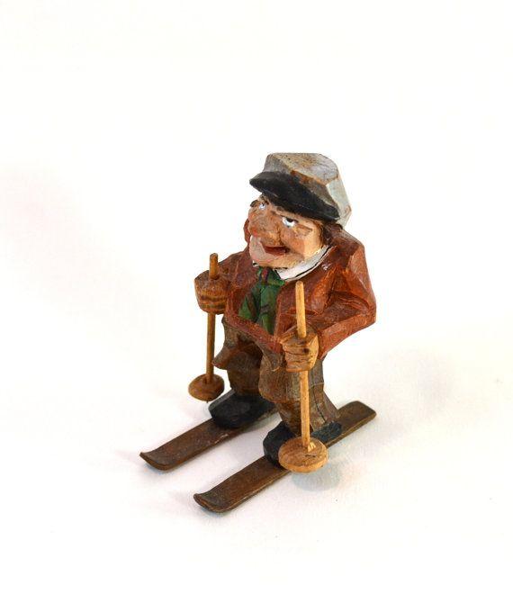Fantastic little piece vintage anri style wood carved man