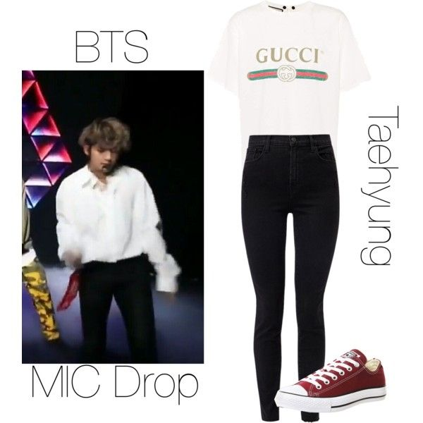 BTS Taehyung MIC Drop inspired outfit by melaniecrybabyz on Polyvore  featuring polyvore, fashion, style