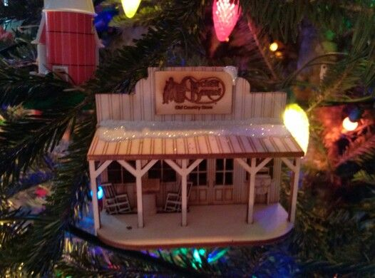 lighted cracker barrel christmas ornament