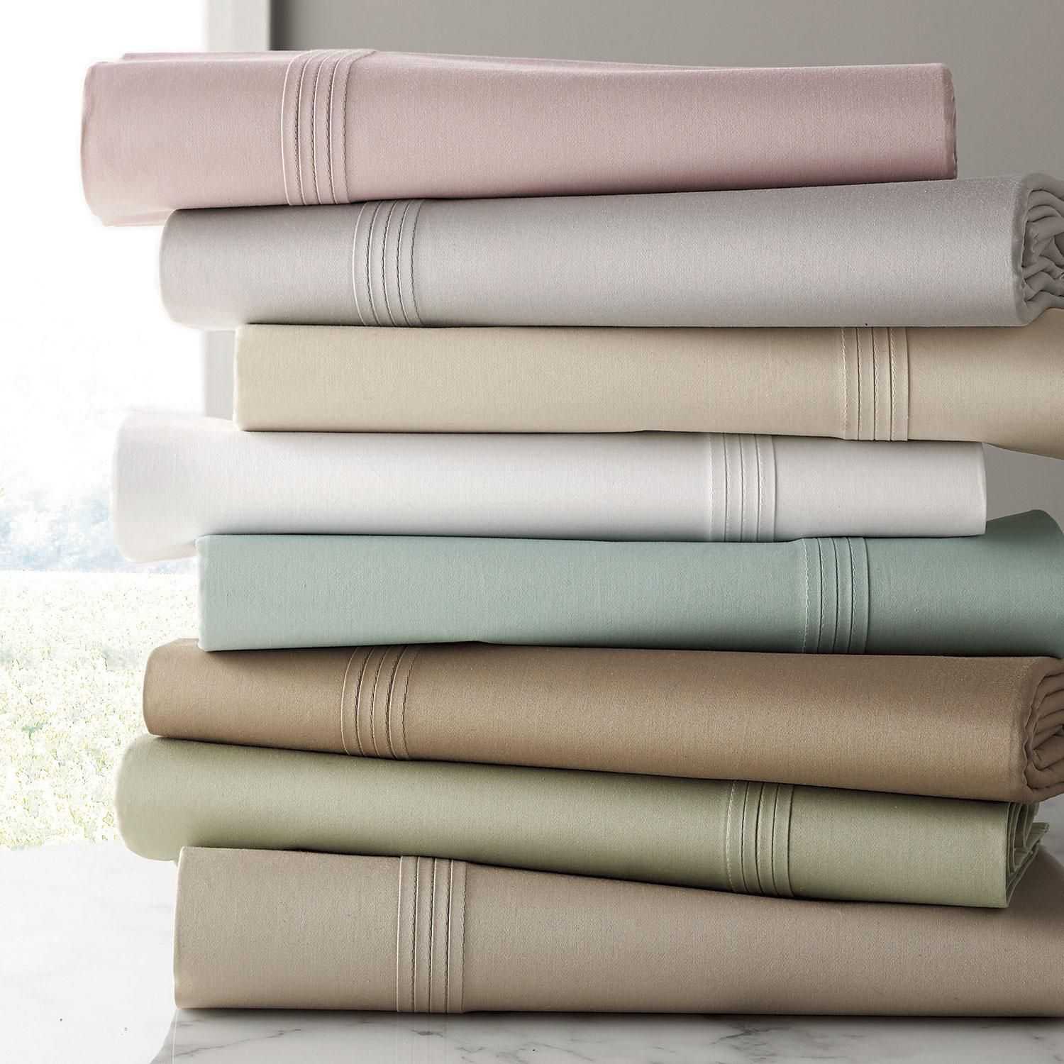 Legends 600 Thread Count Sateen Fitted Sheet At The Company Store