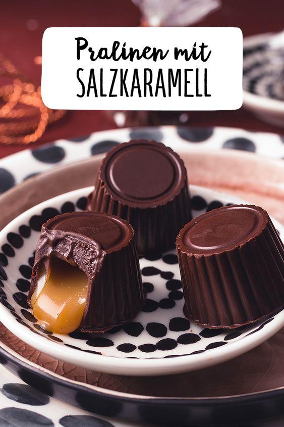 Pralinen mit Salzkaramell #pralinecake