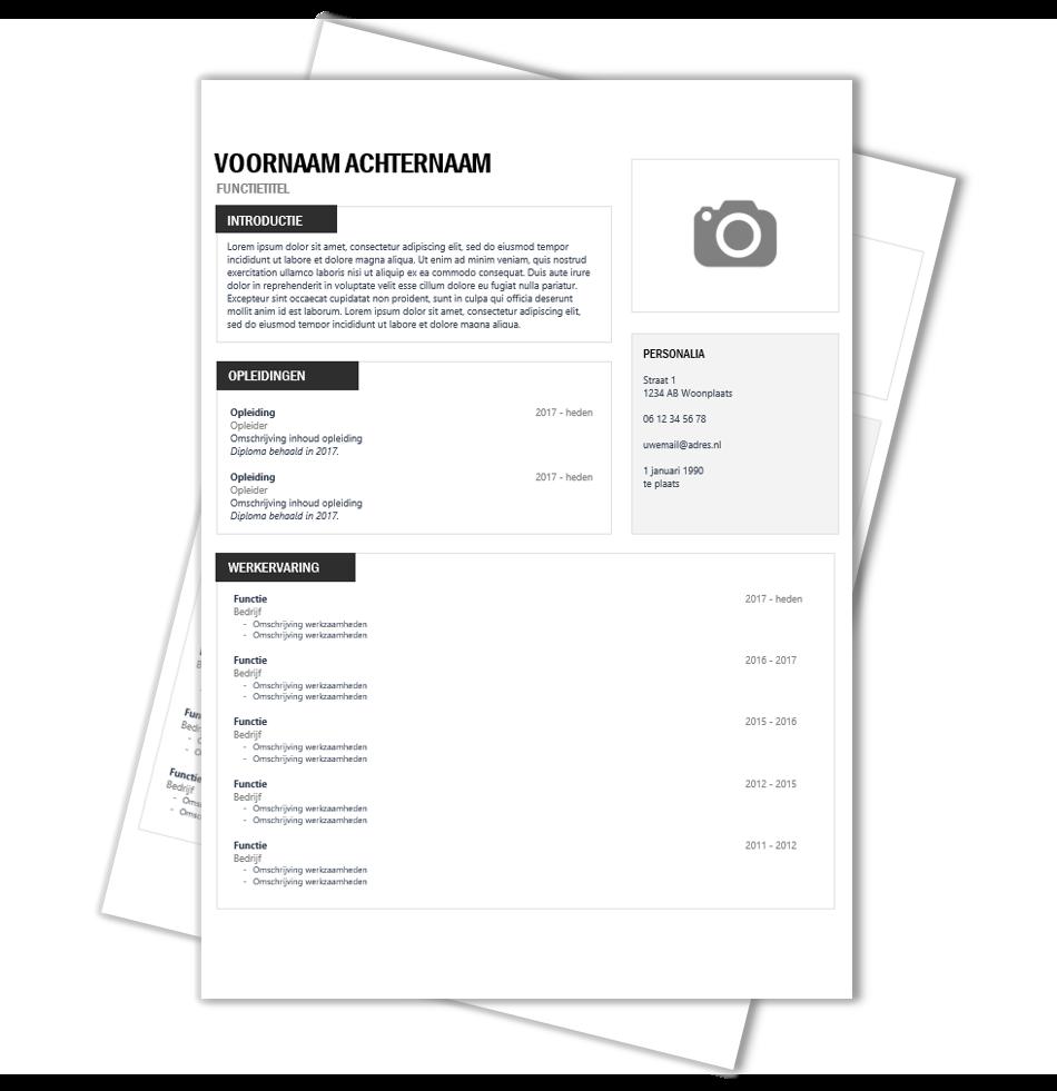 CV Voorbeeld Berlijn Cv sjabloon, Template en Cv ontwerp