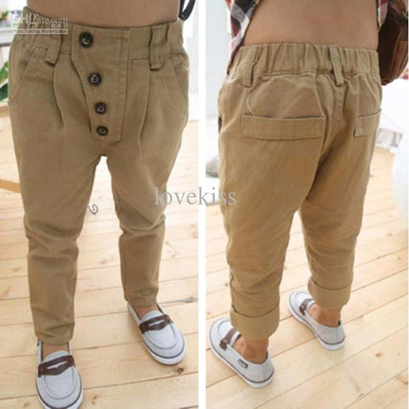 Children Casual Pants Boys Kids Clothes Long Trousers Khaki Pants ...
