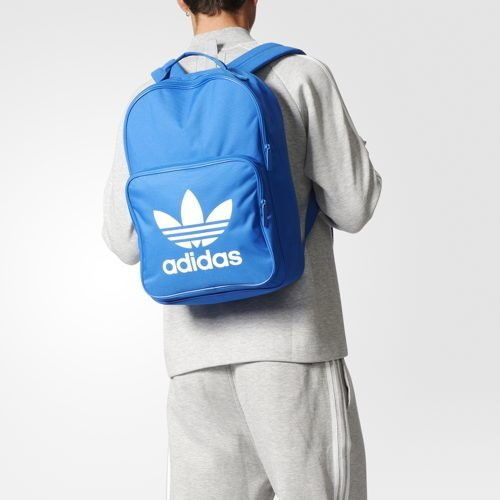 adidas Originals Backpack Classic Trefoil Black School Bag Sports Blue  BK6722  adidas  Backpack bf71eecefe