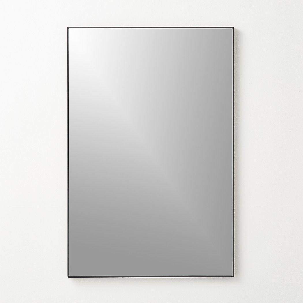 Infinity Black Rectangle Mirror 24 X36 Reviews Cb2 Rectangle Mirror Mirror Black Rectangle