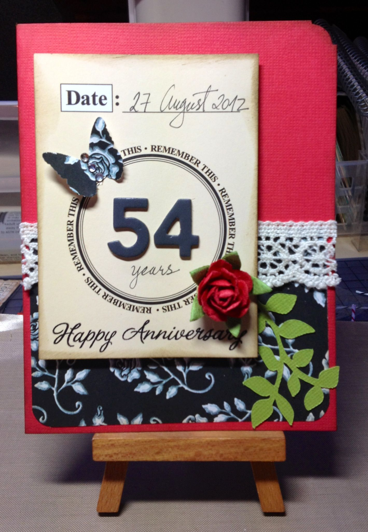 Anniversary card for my parents 54th memories