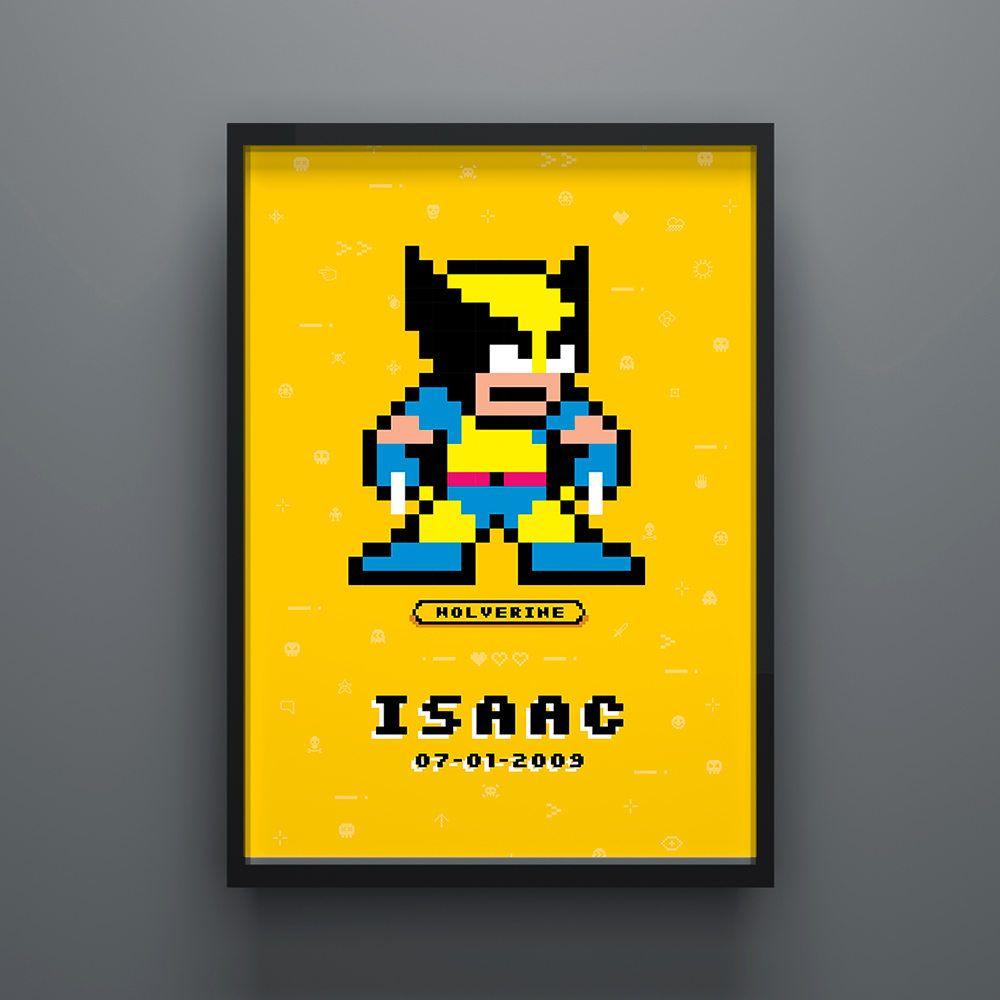 Wolverine Poster, X-Men Superhero Poster, Personalised, Kids Poster ...