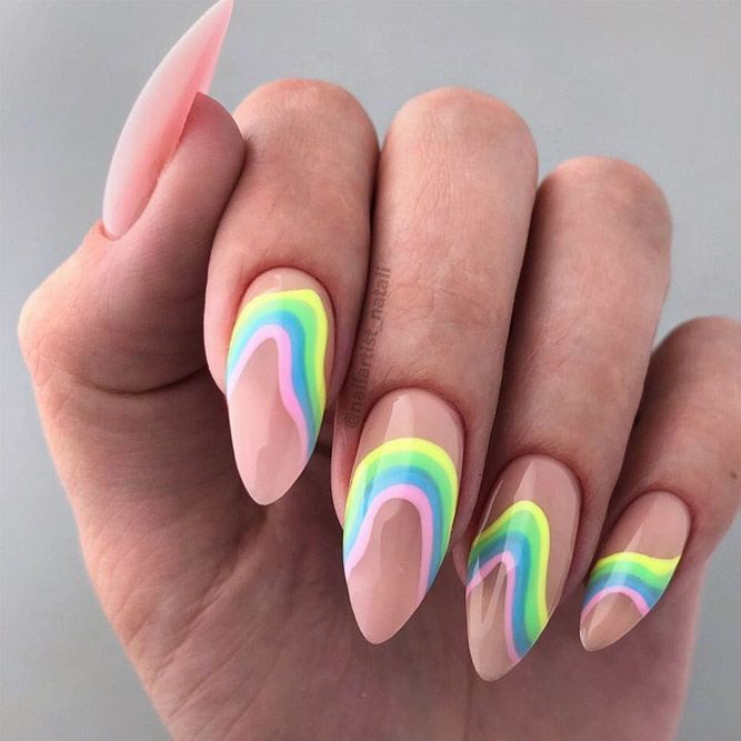 30 Funky Summer Nail Designs To Impress Your Friends -  #designs #friends #funky #ImPRESS #Na...